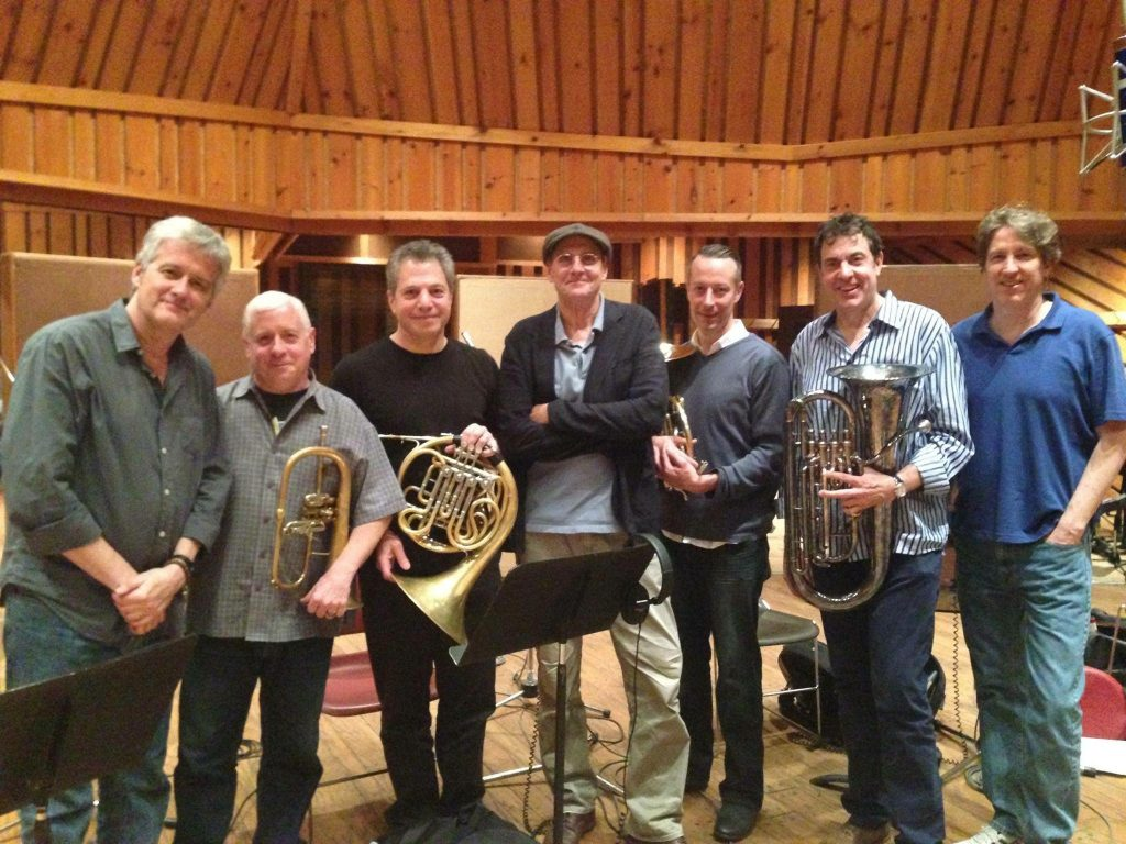 A brass recording session for pop star James Taylor | Tony Kadleck with his Van Laar B3 flugelhorn