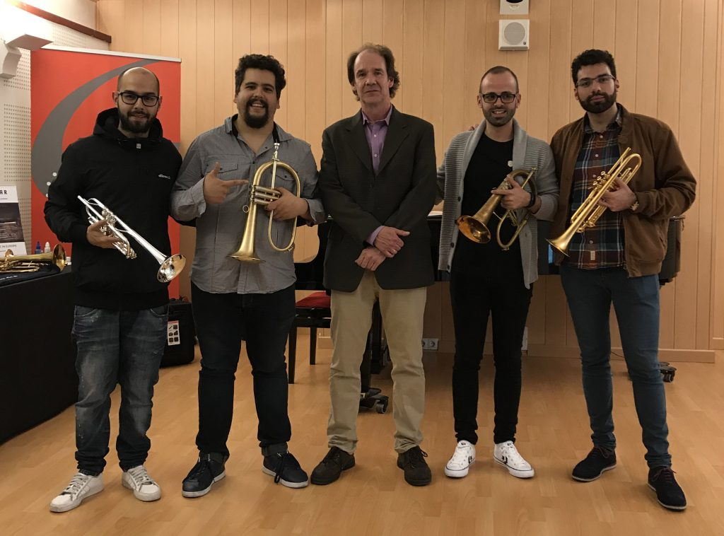 Exhibition Gijón   Chris Kase and some students