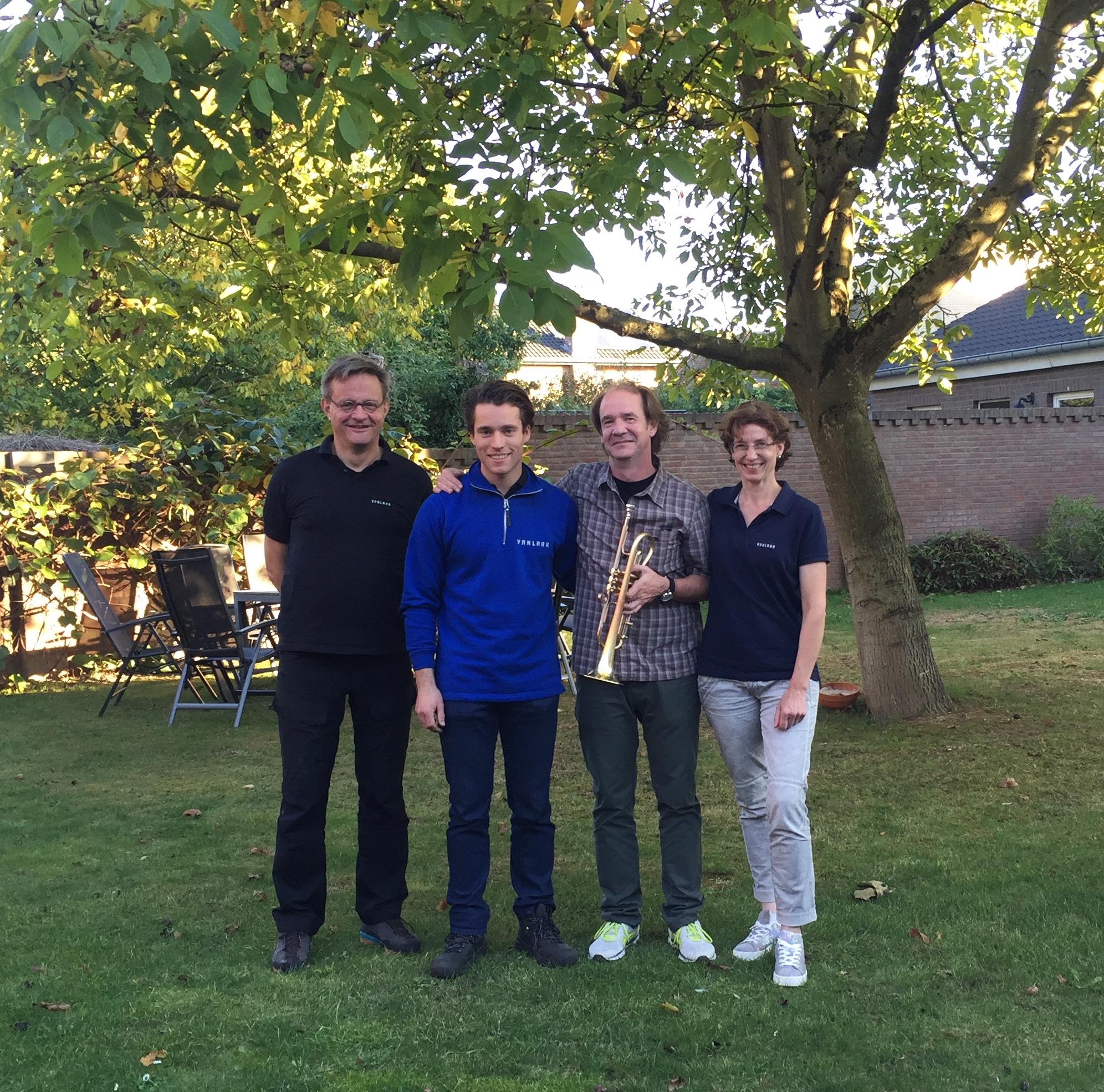 Hub van Laar, Yannic Roijen, Chris Kase and Heidrun Joechner